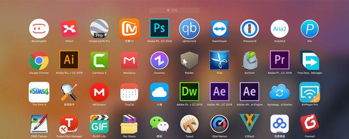 调整Mac 系统启动器[Launchpad]中应用图标大小